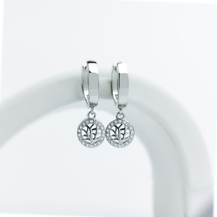 1 - Tree of life babe Silver Örhänge 925 Modern and trendy earings and women jewelry and accessories