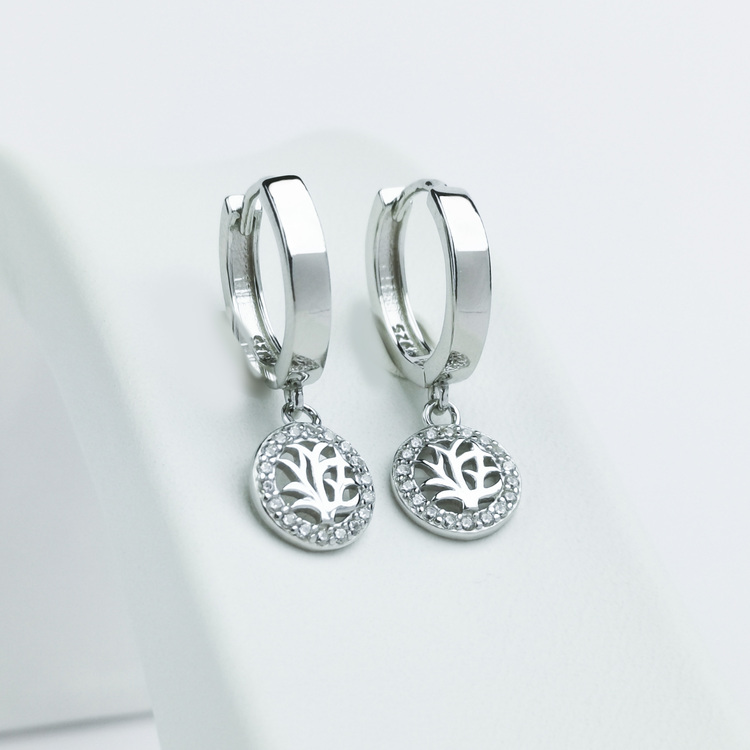 2 - Tree of life babe Silver Örhänge 925 Modern and trendy earings and women jewelry and accessories