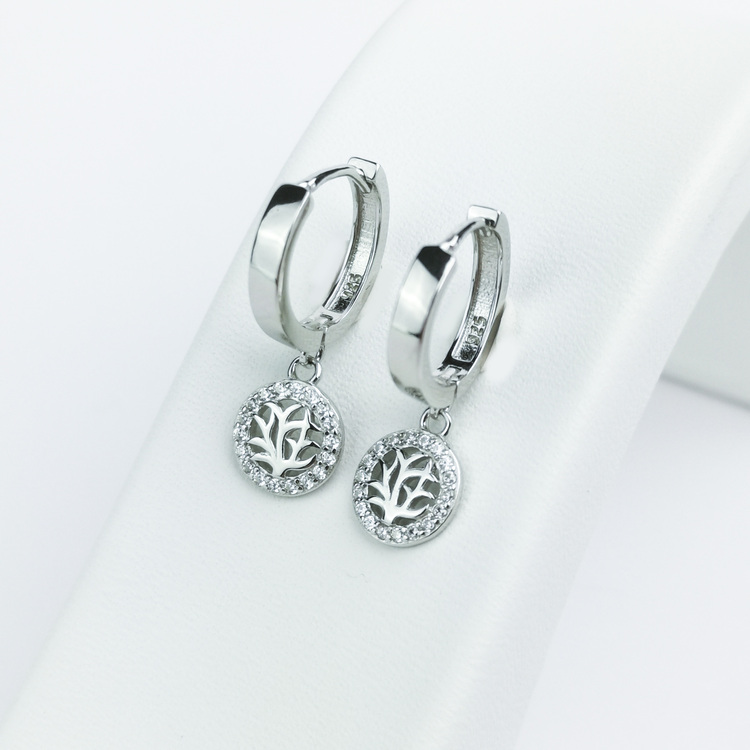 3 - Tree of life babe Silver Örhänge 925 Modern and trendy earings and women jewelry and accessories