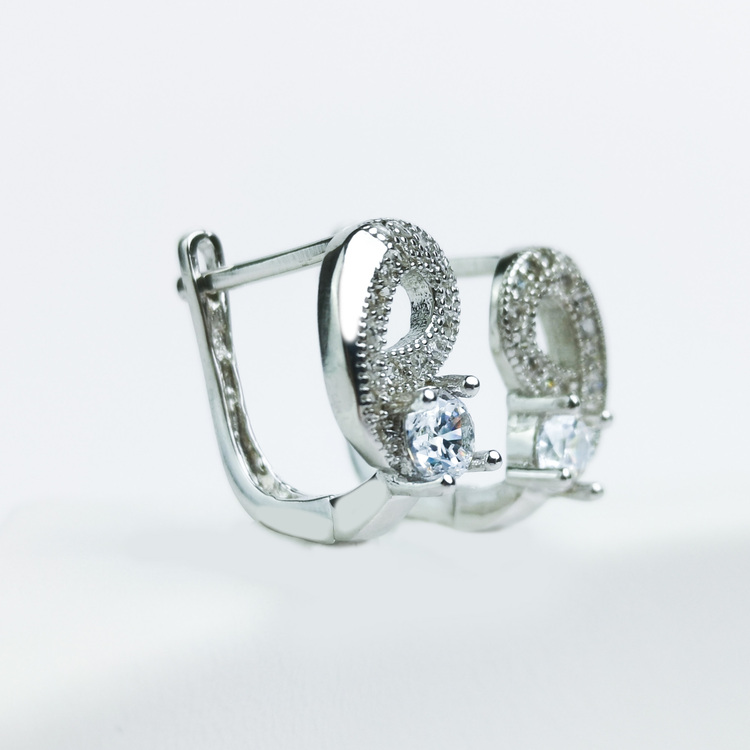 3 - Music  Silver Örhänge 925 Modern and trendy earings and women jewelry and accessories
