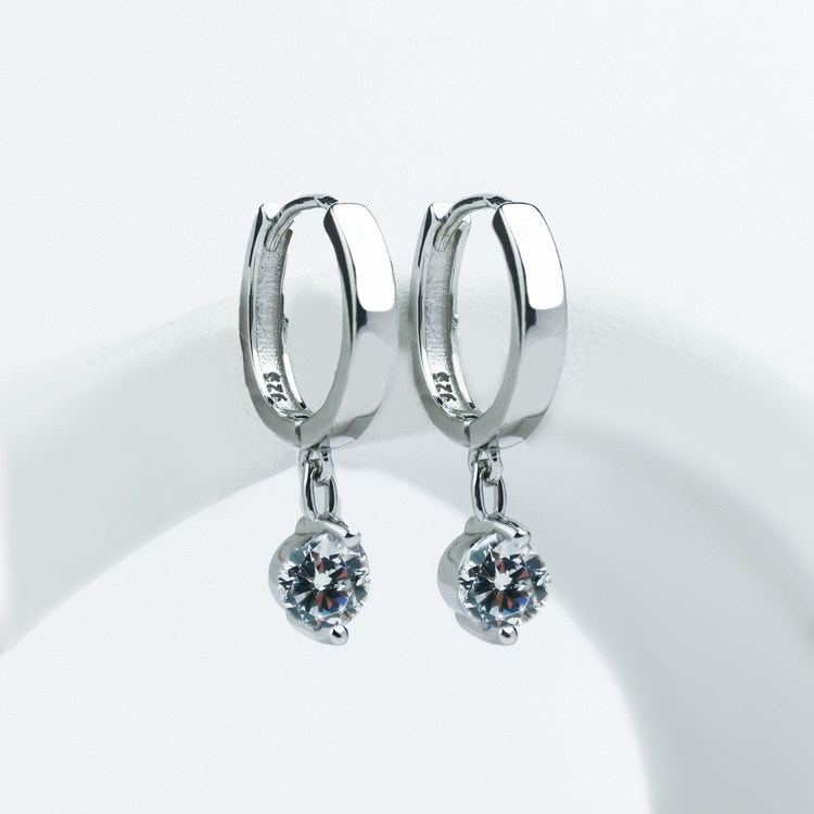 1 - Monaco  Silver Örhänge 925 Modern and trendy earings and women jewelry and accessories
