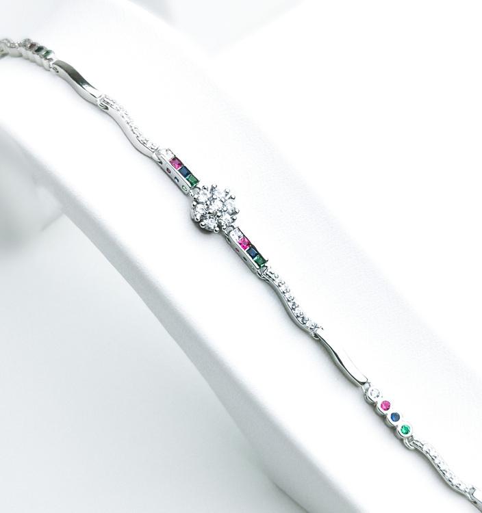 Aroma spring Silver Armband 925 äkta silver, modern silver armband 1