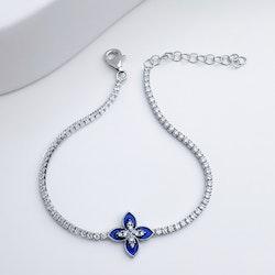 Queen Victoria Blue Secret Silver Armband 925 - SWEVALI