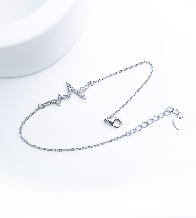 Evig Puls Silver Armband 925 äkta silver, modern silver armband 1