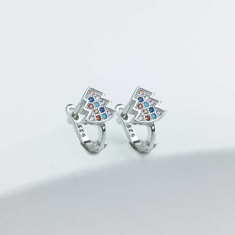 2 - Silver Jul Stones Silver Örhänge 925 Modern and trendy earings and women jewelry and accessories