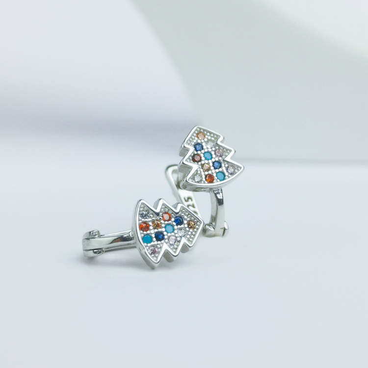 1 - Silver Jul Stones Silver Örhänge 925 Modern and trendy earings and women jewelry and accessories