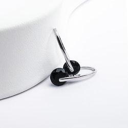 Black Heel Wheel Silver Örhänge 925 - SWEVALI