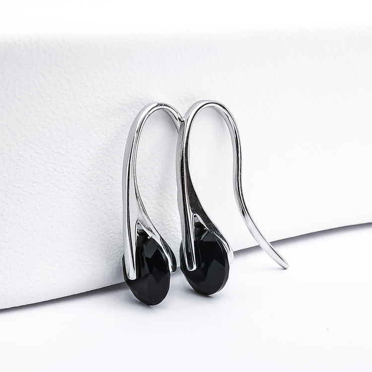 1 - Black Heel Wheel Silver Örhänge 925 Modern and trendy earings and women jewelry and accessories