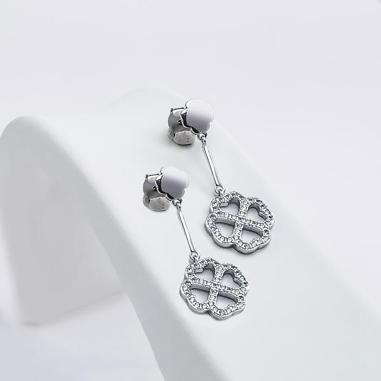 1 - Clover Love Silver Örhänge 925 Modern and trendy earings and women jewelry and accessories