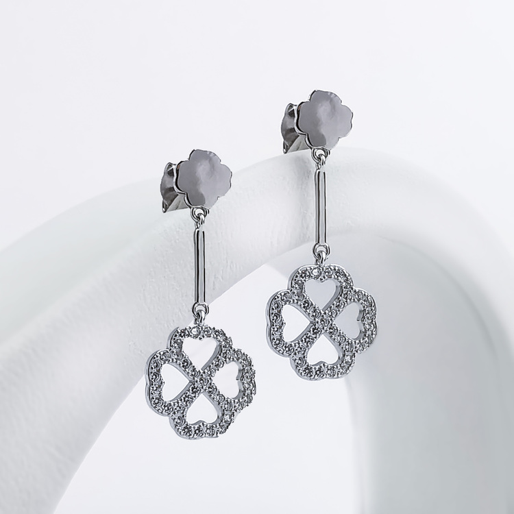 2 - Clover Love Silver Örhänge 925 Modern and trendy earings and women jewelry and accessories