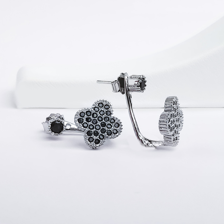 2 - Clover Black Legacy Silver Örhänge 925 Modern and trendy earings and women jewelry and accessories