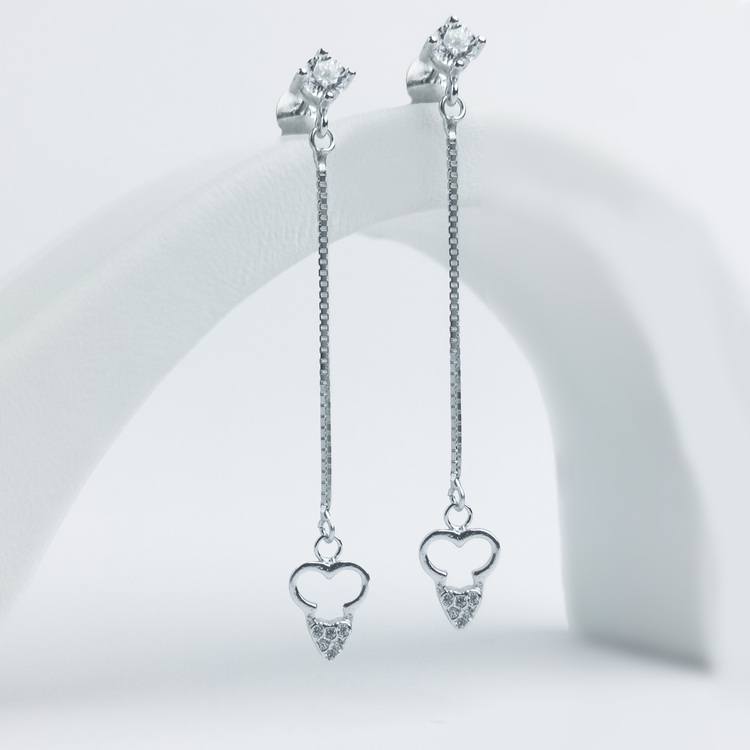 1 - Long Love Silver Örhänge 925 Modern and trendy earings and women jewelry and accessories