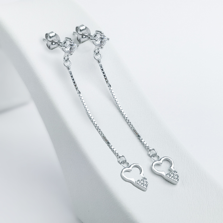 2 - Long Love Silver Örhänge 925 Modern and trendy earings and women jewelry and accessories