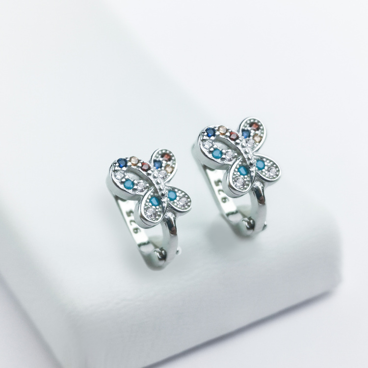 3 - Vättern Butterfly Silver Örhänge 925 Modern and trendy earings and women jewelry and accessories
