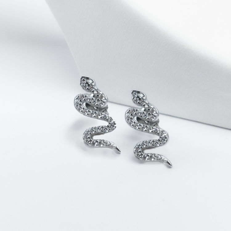 2 - Sneaky Snake Silver Örhänge 925 Modern and trendy earings and women jewelry and accessories