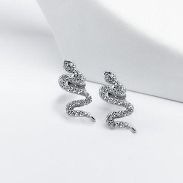 Sneaky Snake Silver Örhänge 925 - SWEVALI