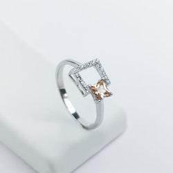 Baroness Sun Set One Size Äkta  Silver ring 925 - SWEVALI