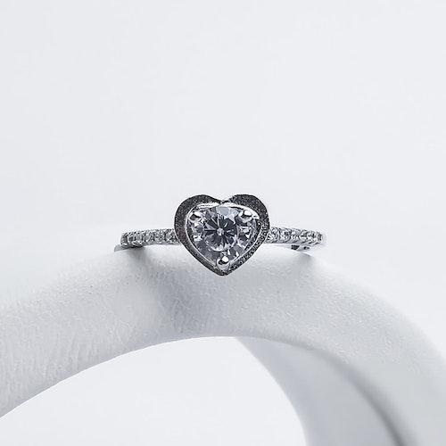 Heart Of Diamond Äkta Silver Ring 925 - SWEVALI