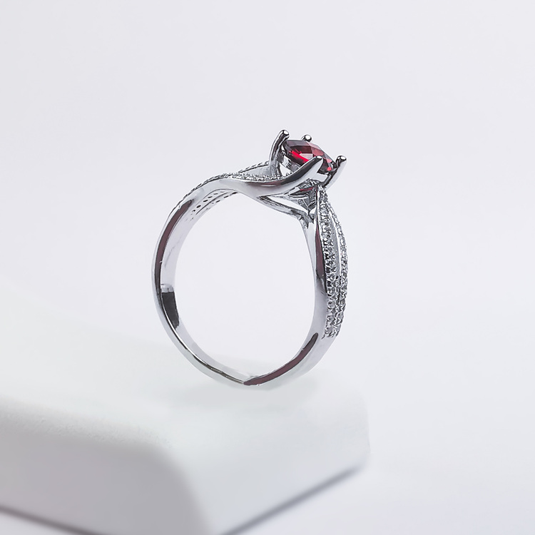 3- Seductive Carmine Silver Ring 925 Modern and trendy Silver Rings and women jewelry and accessories from SWEVALI fashion Sweden