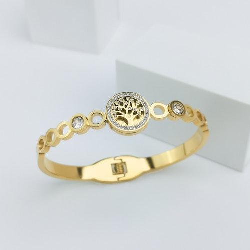 Tree of life diamond Gold Edition Armband - SWEVALI