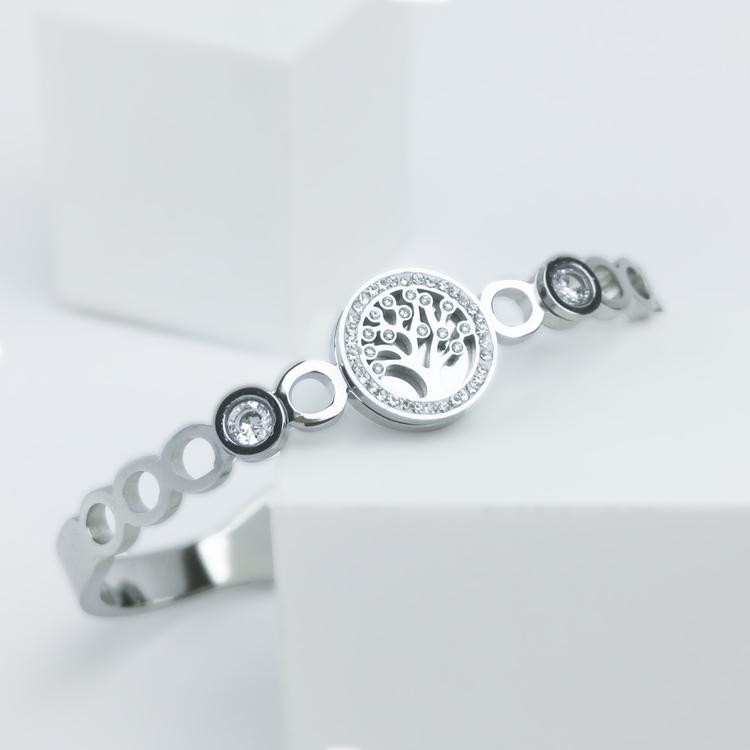 Tree Of Life Diamond Silver Edition Armband - SWEVALI