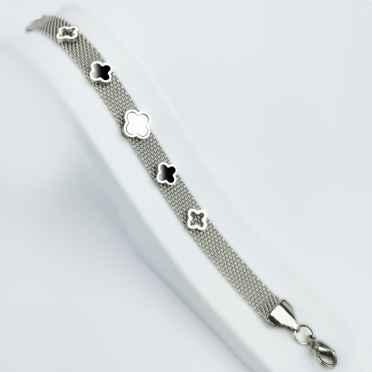 Clover Soft Touch Silver Edition Armband - SWEVALI