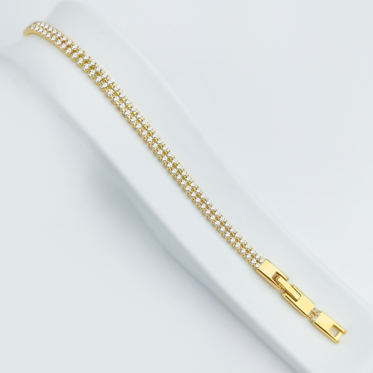 Twin Diamond Flow Gold Edition Armband - SWEVALI