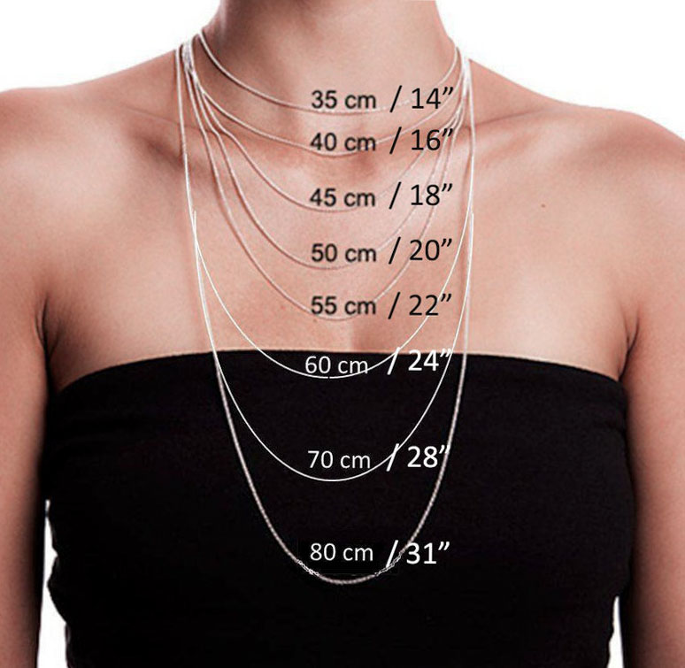 Necklace Length Guide Chart SWEVALI Modern Necklace and Accessories