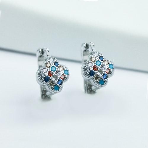 Clover Stones Of Luck Silver Örhänge 925 - SWEVALI