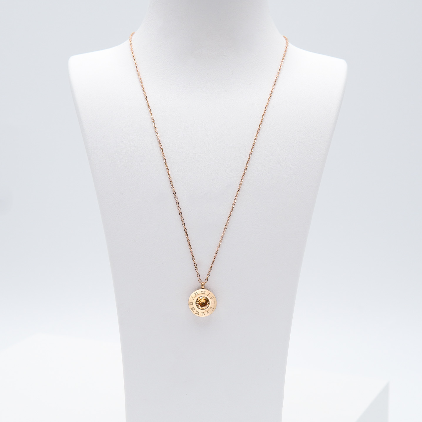 4- 4 Queen Diamonds Necklace Rose Edition Halsband Modern and trendy Necklace and women jewelry and accessories from SWEVALI fashion Sweden