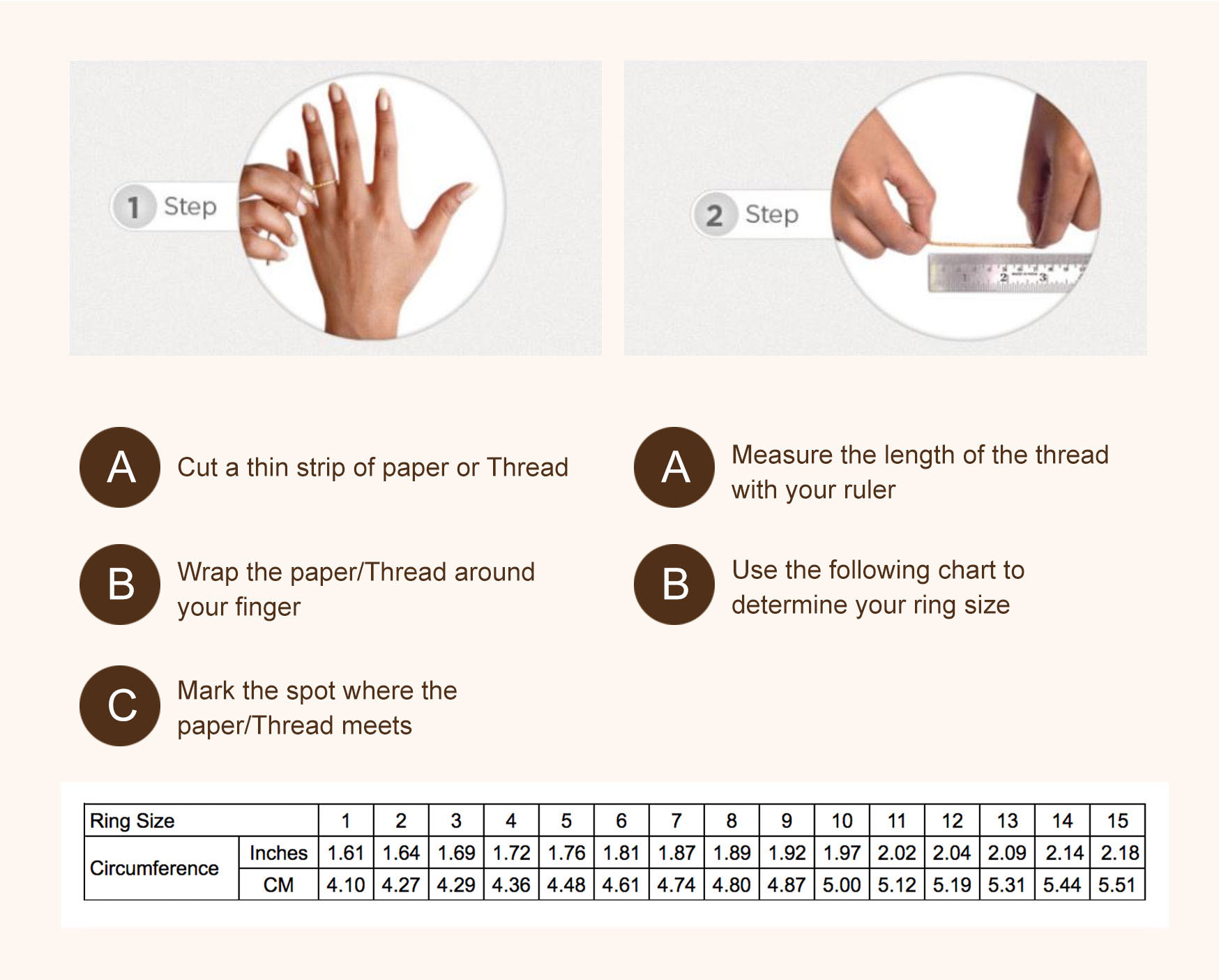 Ring Size Guide Chart SWEVALI Modern Rings and Fashion Accessories From SWEVALI Sweden