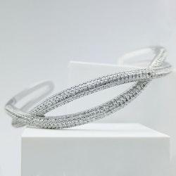 Symmetry smooth Silver Edition Armband - SWEVALI