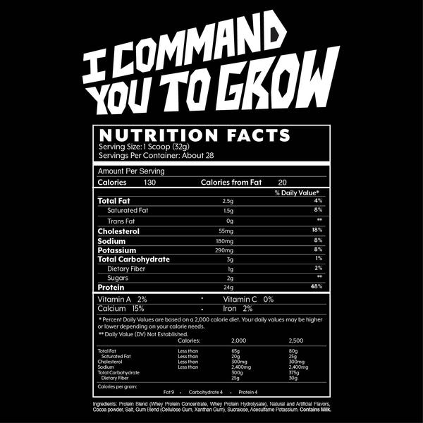 Iron Addicts Brand I COMMAND YOU TO GROW