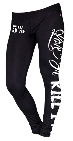 Rich Piana 5% Appereal Leggings LOVE IT KILL IT svart/vit