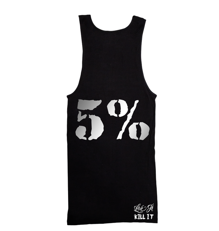 Rich Piana 5% Apparel Tank Top Love it Kill it Svart/Silver