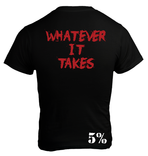 Rich Piana 5% Apparel T-Shirt Whatever It takes Svart/Röd