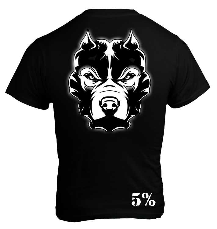 Rich Piana 5% Apparel T-Shirt PRIDE Svart/Vit
