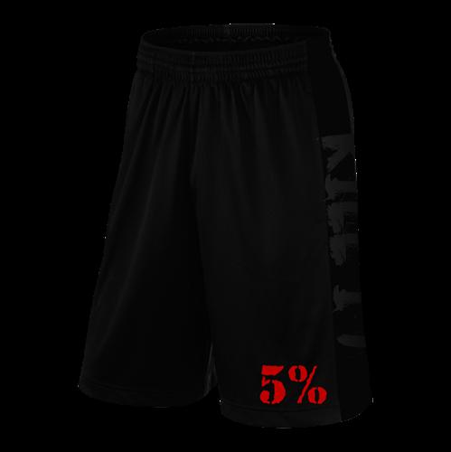Rich Piana 5% Apparel Shorts Loveit KILLIT Svart/Röd