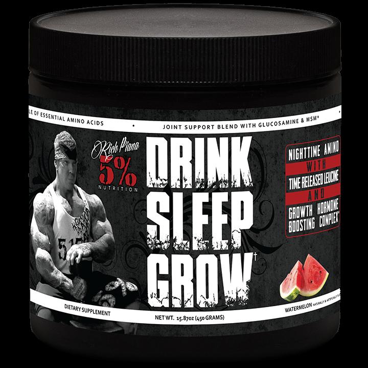 Rich Piana 5% nutrition DRINK SLEEP GROW