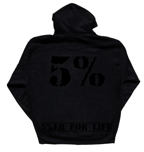 Rich Piana 5% Apparel Hoodie Love it Kill it - 5%'er for life - Svart/Svart