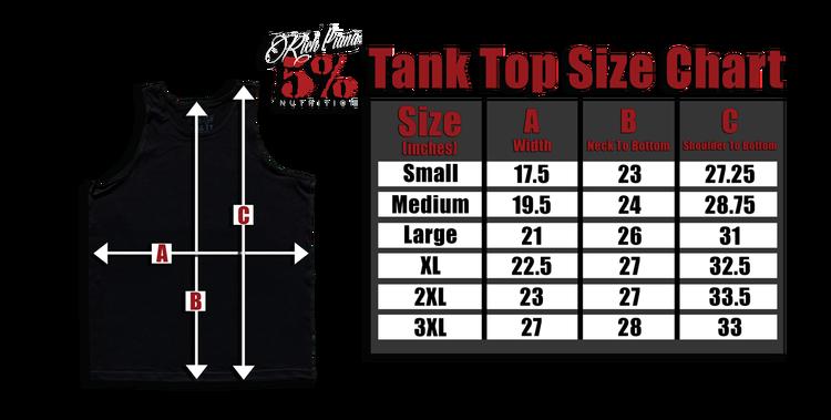 Rich Piana 5% Apparel Tank Top Real Men - Röd/Svart