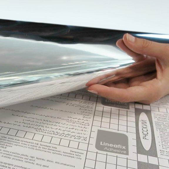 Dekorplast (45 x 150 cm) - Spegelfolie (självhäftande)