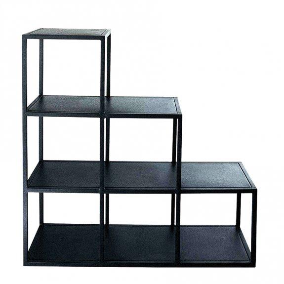 Dekorplast (45 x 200 cm) - Läderimitation svart