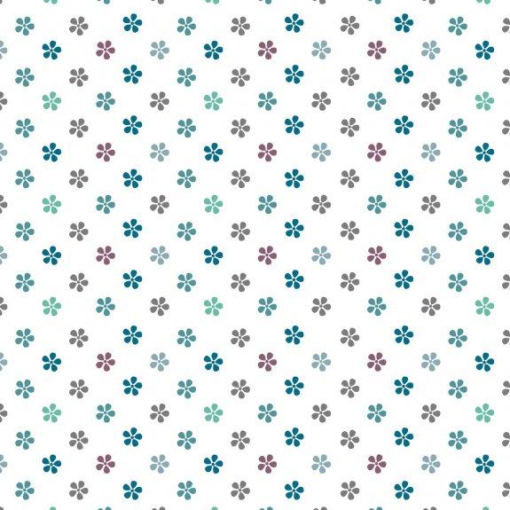 Dekorplast (45 x 200 cm) -  Småblommor