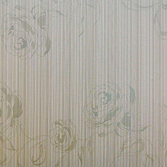 Dekorplast (45 x 200 cm) - Rosor i silver