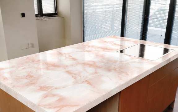 Dekorplast (45 x 200 cm) - Marmor Rosa