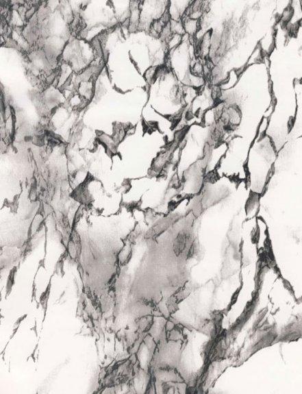 Dekorplast (metervara) - Marmor Vit, svart & grå