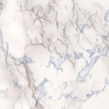 Dekorplast (metervara) - Marmor Vit, blå & grå