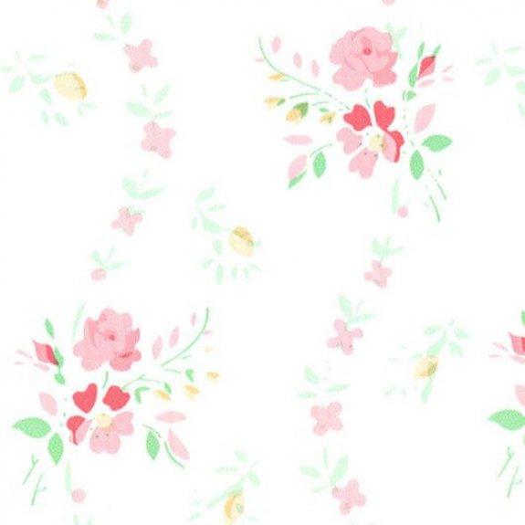 Dekorplast (metervara) - Små blommor