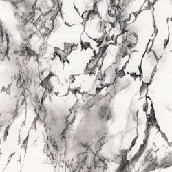 Dekorplast (5 meter) - Marmor Vit, svart & grå